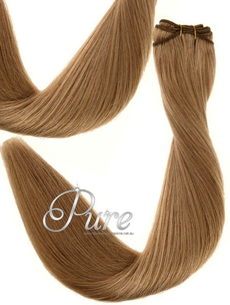 "#12 ""SALTED CARAMEL"" BLONDE WEAVE HAIR EXTENSIONS"