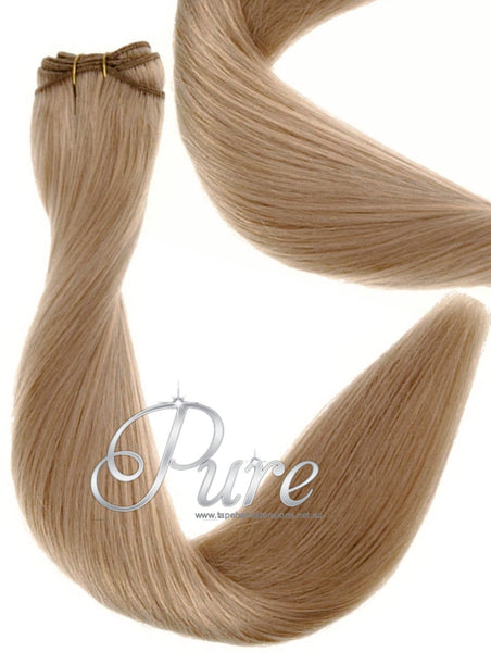 #16 HONEY BLONDE BLONDE WEFT EXTENSIONS WEAVE IN HAIR EXTENSIONS