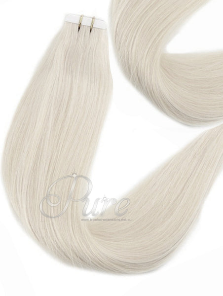#CREAMY BLONDE - TAPE-HAIR EXTENSIONS - LIGHT CREAM BLONDE - Pure Tape Hair Extensions