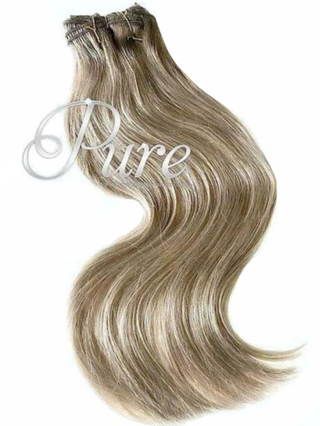#18 DARK ASH BLONDE EXTRA THICK CLIP IN HAIR EXTENSIONS