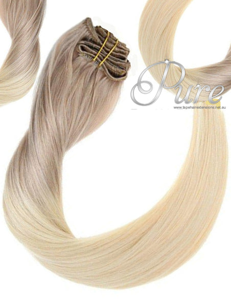 18/613 DARK ASH BLONDE WEFT OMBRE WEFT / WEAVE - NEW EASY BLENDS - 20-22' - Pure Tape Hair Extensions