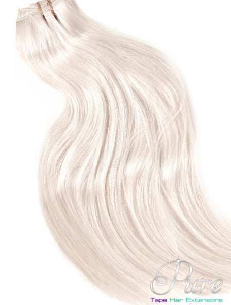 #20 VANILLA BLONDE LIGHT WARM  BLONDE EXTRA THICK CLIP IN HAIR EXTENSIONS