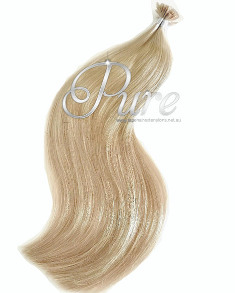 "#22 ""CHAMPAIGN BLONDE"" MEDIUM WARM BLONDE KERATIN HAIR EXTENSIONS - Pure Tape Hair Extensions"