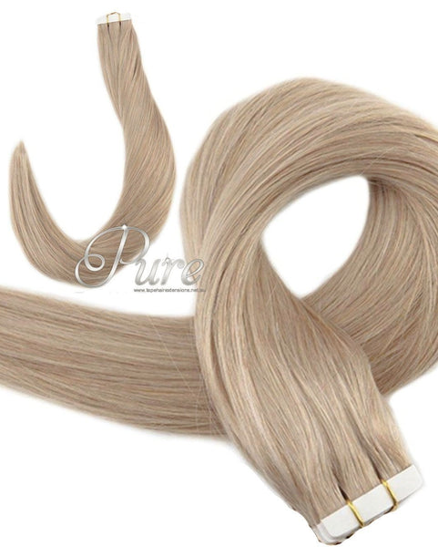 "#22 ""CHAMPAIGN BLONDE"" MEDIUM BLONDE TAPE HAIR EXTENSIONS"