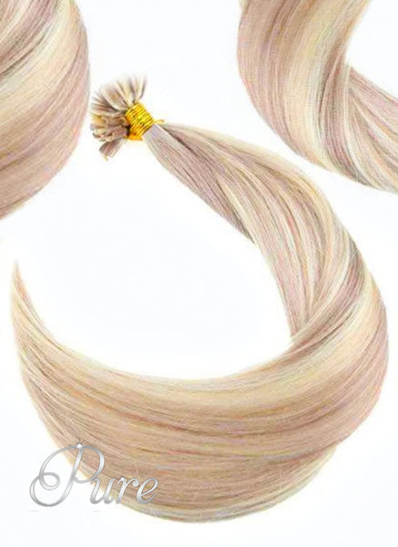 "#27/22 ""SUNSET BLONDE"" CARAMEL & HONEY BLONDE MIX KERATIN HAIR EXTENSIONS - Pure Tape Hair Extensions"