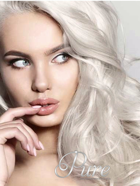 #WHITE BLONDE - ICY WHITE BLONDE TAPE HAIR EXTENSIONS  - Pure Tape Hair Extensions