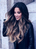 highlighted black balayage hair extensions