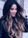 "#1/10/18 ""CIARRA"" BLACK ROOTS LIGHT BROWN & DARK ASH BLONDE FOILS TAPE-IN HAIR EXTENSIONS - Pure Tape Hair Extensions"