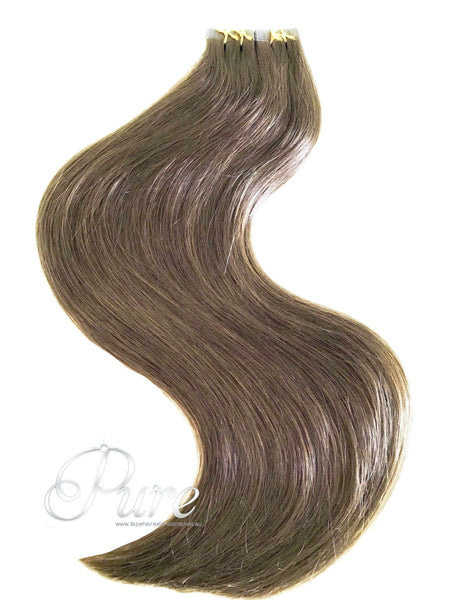 "#6 ""MAPLE BROWN"" BEST TAPE HAIR EXTENSIONS"