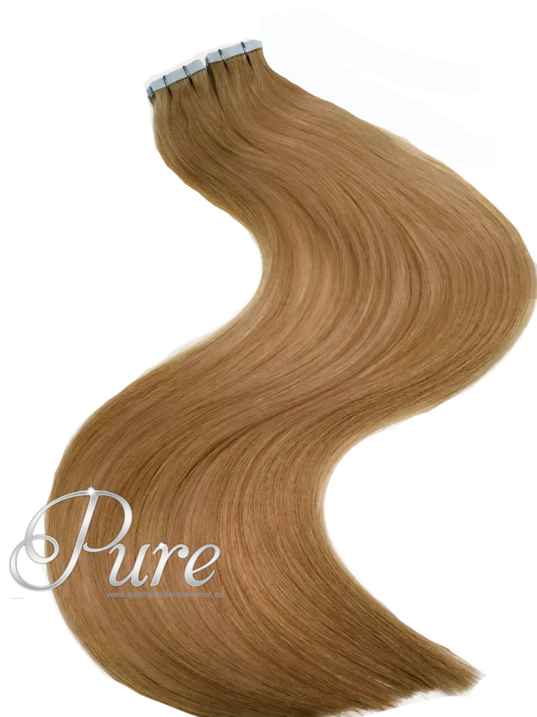 12 Salted Caramel Caramel Blonde Tape Hair Extensions Luxury