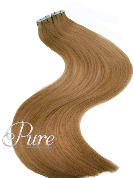 #12 - SALTED CARAMEL - CARAMEL BLONDE -LUXURY TAPE HAIR EXTENSIONS - Pure Tape Hair Extensions