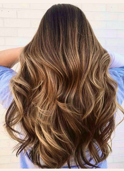 BROWN BALAYAGE TAPE HAIR EXTENSIONS