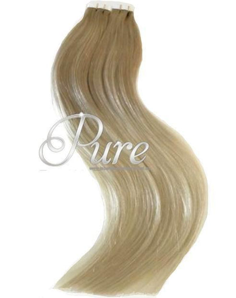 #16/22 Caramel Roots To Light Blonde - Long Root Stretch - Luxury Tape Hair Extensions - Pure Tape Hair Extensions