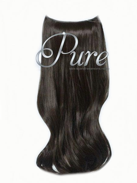 #2 RICH CHOCOLATE BROWN FLIP IN HALO HAIR EXTENSIONS