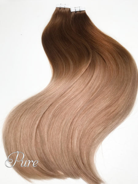 AUBURN &  BLONDE BALAYAGE TAPE HAIR EXTENSIONS