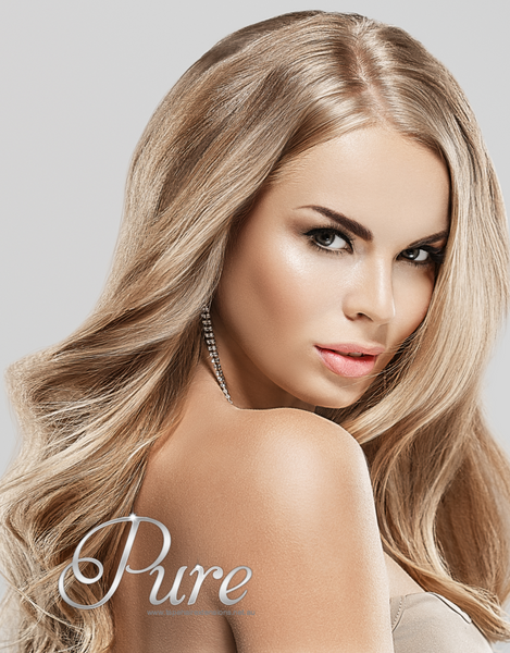 #16/613 - CARAMEL BLONDE / LIGHT BLONDE - WEFT / WEAVE RUSSIAN GRADE LUXURY HAIR - Pure Tape Hair Extensions