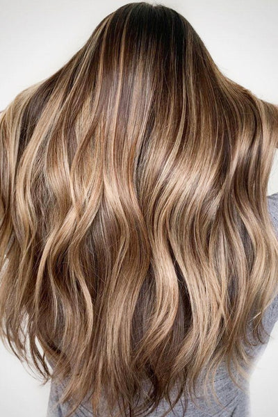 "#6/16/6 ""CINNAMON MELT"" LIGHT BROWN TO CARAMEL BLONDE BALAYAGE / OMBRE LUXURY RUSSIAN GRADE TAPE HAIR EXTENSIONS. - Pure Tape Hair Extensions"