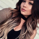 black to dark ash blonde balayage tape hair extensions