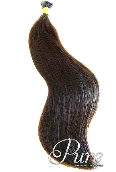 MICRO - BEAD HAIR EXTENSIONS #2 - RICH CHOCOLATE BROWN - DARK BROWN - Pure Tape Hair Extensions