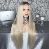 "Lace Wig - Summer Blonde - 180% Density - 24""- Kylie - Pure Tape Hair Extensions"