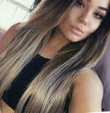 #6 /Ash - Light Brown To Light Ash Blonde Balayage / Ombre Tape Hair - Pure Tape Hair Extensions