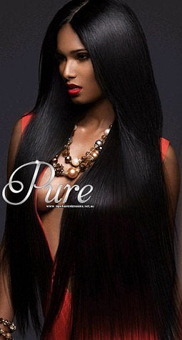 #1 - EBONY - JET BLACK - WEFT / WEAVE RUSSIAN GRADE LUXURY HAIR - FULL HEAD - Pure Tape Hair Extensions