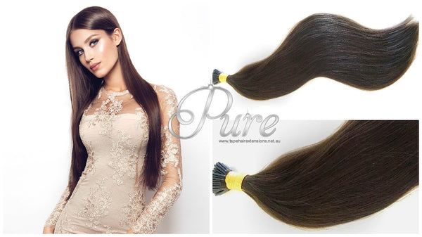 MICRO-BEAD HAIR EXTENSIONS #4 - WARM COCOA BROWN - MEDIUM BROWN - Pure Tape Hair Extensions