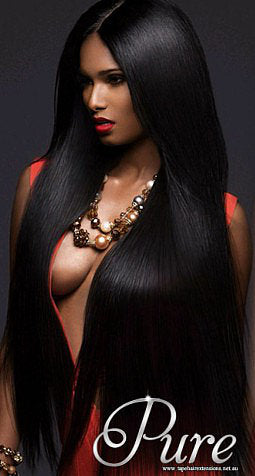 BLACK MICRO-BEAD HAIR EXTENSIONS