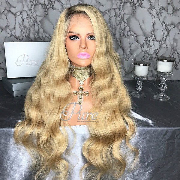 "Summer Wavy Blonde - 180% Density - 24"" - Pure Tape Hair Extensions"