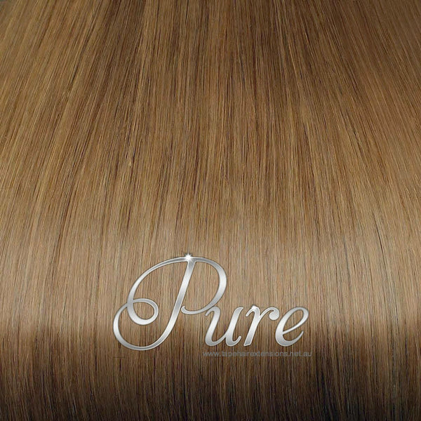 WRAP PONYTAIL HAIR EXTENSION #12 - SALTED CARAMEL - RICH CARAMEL BLONDE - Pure Tape Hair Extensions
