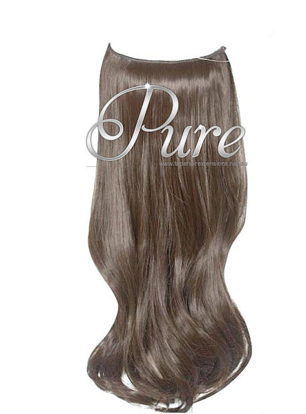 FLIP-IN HALO HAIR EXTENSIONS #6 - MAPLE BROWN - LIGHT WARM BROWN - Pure Tape Hair Extensions