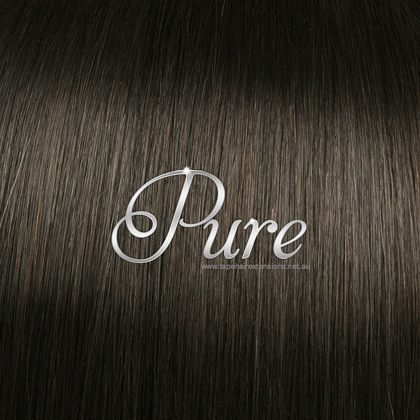 FLIP IN HALO HAIR EXTENSIONS #2 RICH CHOCOLATE BROWN - DARK BROWN - Pure Tape Hair Extensions