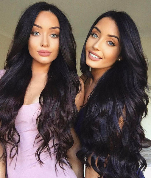 "Natural Black Wig - 180% Density - 30"" - Pure Tape Hair Extensions"