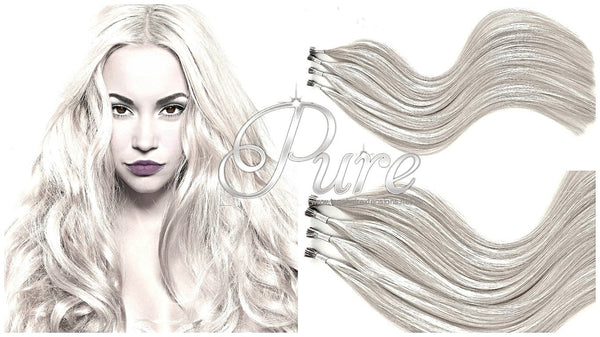 #CREAMY BLONDE - LIGHT CREAM BLONDE MICRO BEAD HAIR EXTENSIONS - Pure Tape Hair Extensions