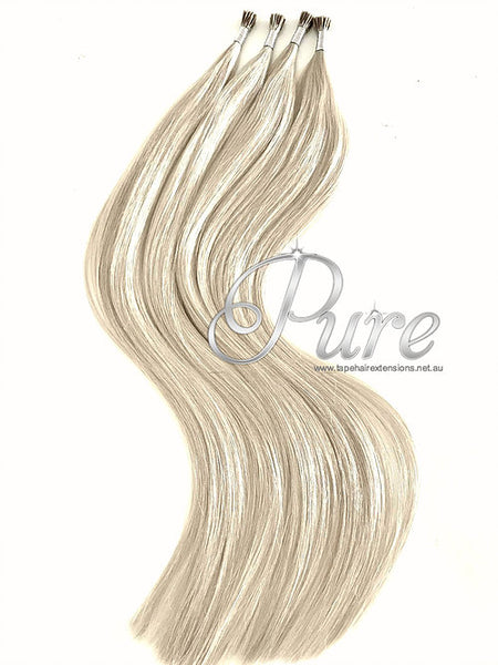 MICRO - BEAD HAIR EXTENSIONS #613  - GOLDEN BLONDE  - LIGHT GOLDEN BLONDE - Pure Tape Hair Extensions