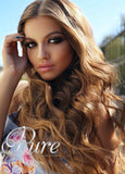 FLIP IN HALO HAIR EXTENSIONS #12 - SALTED CARAMEL - RICH CARAMEL BLONDE - Pure Tape Hair Extensions