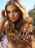 #12 SALTED CARAMEL EXTRA THICK CLIP IN HAIR EXTENSIONS EXTRA THICK 150 GRAMS