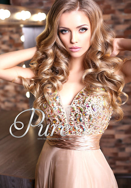 #14 - BUTTERSCOTCH BLONDE - DARK BLONDE -TAPE HAIR EXTENSIONS - LUXURY RUSSIAN - Pure Tape Hair Extensions