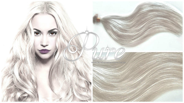 #CREAMY BLONDE LIGHT CREAM BLONDE KERATIN BOND HAIR EXTENSIONS - Pure Tape Hair Extensions