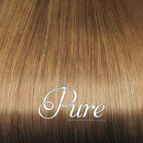 #12 - SALTED CARAMEL - CARAMEL BLONDE -WEFT / WEAVE LUXURY RUSSIAN GRADE HAIR - Pure Tape Hair Extensions