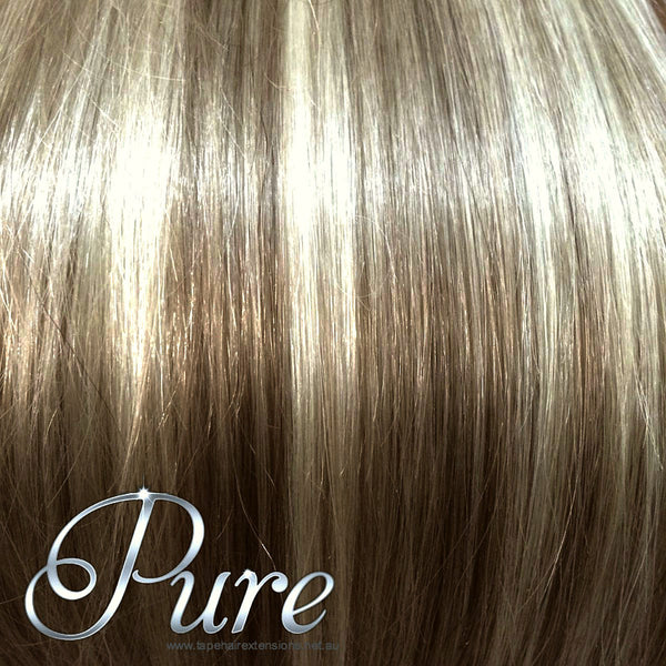 MICRO-BEAD HAIR EXTENSIONS #6/613 - LIGHT BROWN / LIGHT BLONDE MIX - Pure Tape Hair Extensions