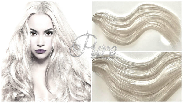 #CREAMY BLONDE - LIGHT CREAM BLONDE WEFT / WEAVE HAIR EXTENSIONS - Pure Tape Hair Extensions