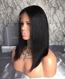"Lace Wig - Virgin Natural Black / Dark Brown - 150% Density -14"" - Holly - Pure Tape Hair Extensions"