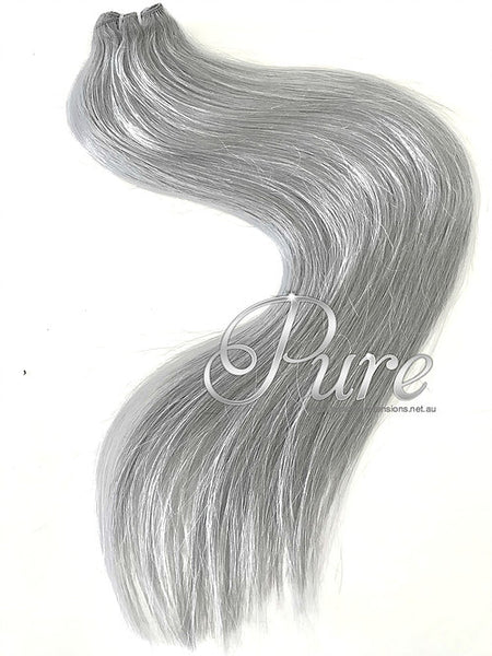 #STUNNING SILVER - SILVER BLONDE -WEFT / WEAVE LUXURY RUSSIAN GRADE HAIR - Pure Tape Hair Extensions