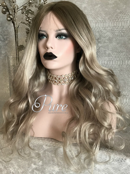 "Lace Wig - Summer Blonde - 180% Density -20"" Balayage - Pure Tape Hair Extensions"
