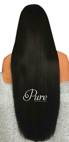 "Natural Black - 180% Density - 30"" - Pure Tape Hair Extensions"