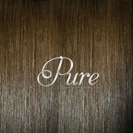 NAIL TIP / KERATIN HAIR EXTENSIONS #4 - WARM COCOA BROWN - MEDIUM BROWN - Pure Tape Hair Extensions