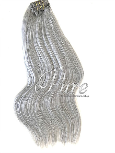 SILVER CLIP IN HAIR EXTENSIONS