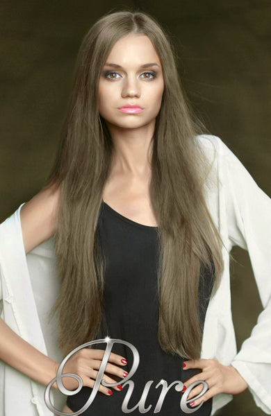 #10 - LIGHT ASH BROWN WEFT - WEFT / WEAVE LUXURY RUSSIAN GRADE HAIR - Pure Tape Hair Extensions