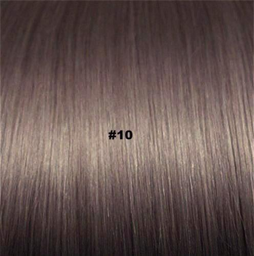#10 - ULTRA MEDIUM ASH BROWN HAIR - TAPE-IN SEAMLESS  HAIR EXTENSIONS - LUXURY RUSSIAN GRADE - Pure Tape Hair Extensions